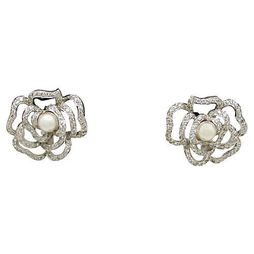 Sterling & Majorica Pearl Earrings