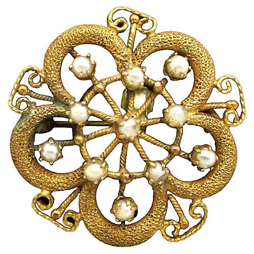 Victorian Seed Pearl Pin