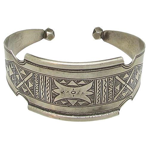 Engraved Silver Taureg Cuff
