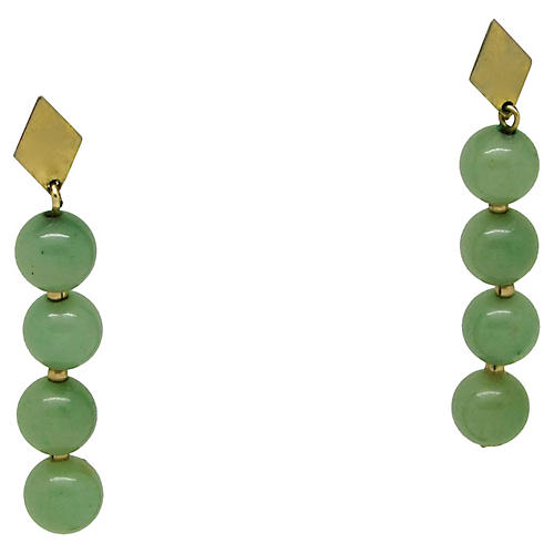 Nephrite Bead Earrings