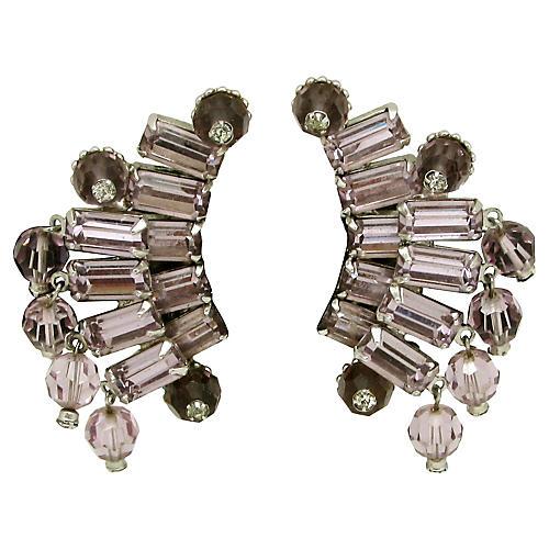 Layered Rhinestone Earrings