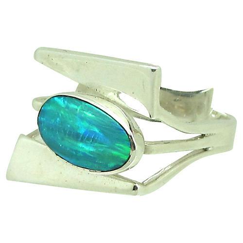 Sterling & Fire Opal Ring