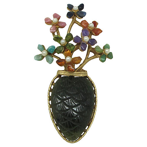 Swoboda Flower Brooch