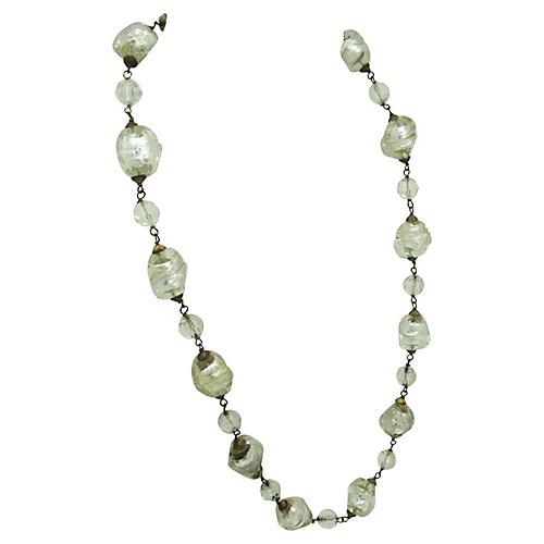 Multi Sized Lampwork Bead Necklace