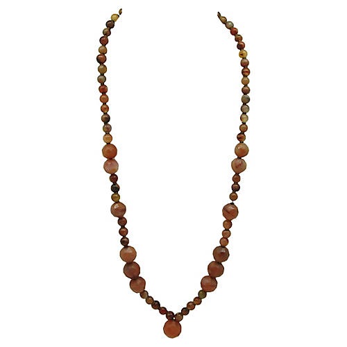 Multi Size Agate Bead Necklace