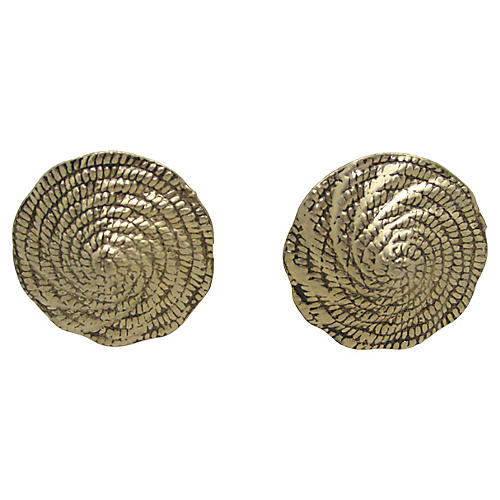 Accessocraft NYC Coiled Dome Earrings