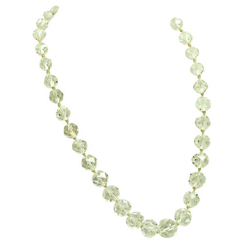 Graduated Faceted Glass Bead Necklace