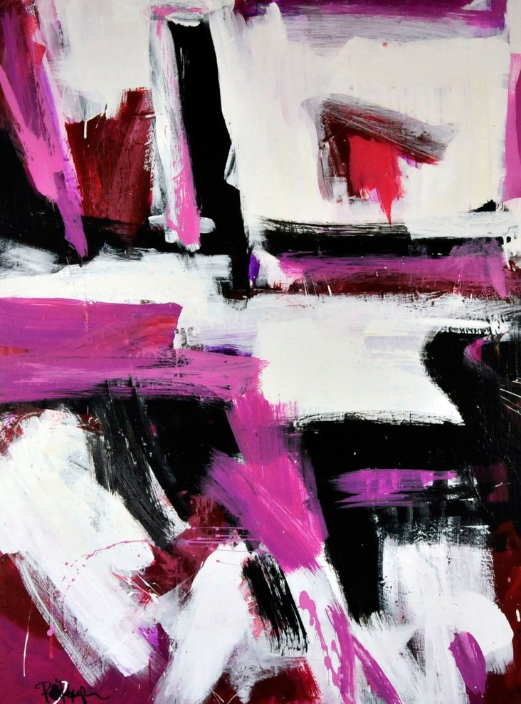 Fuchsia Abstract by Robbie Kemper