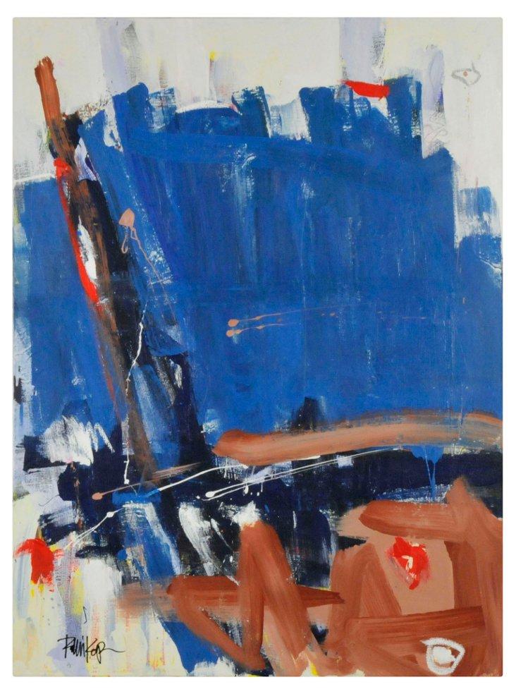 hold  Blue, Brown & Orange over Pastels