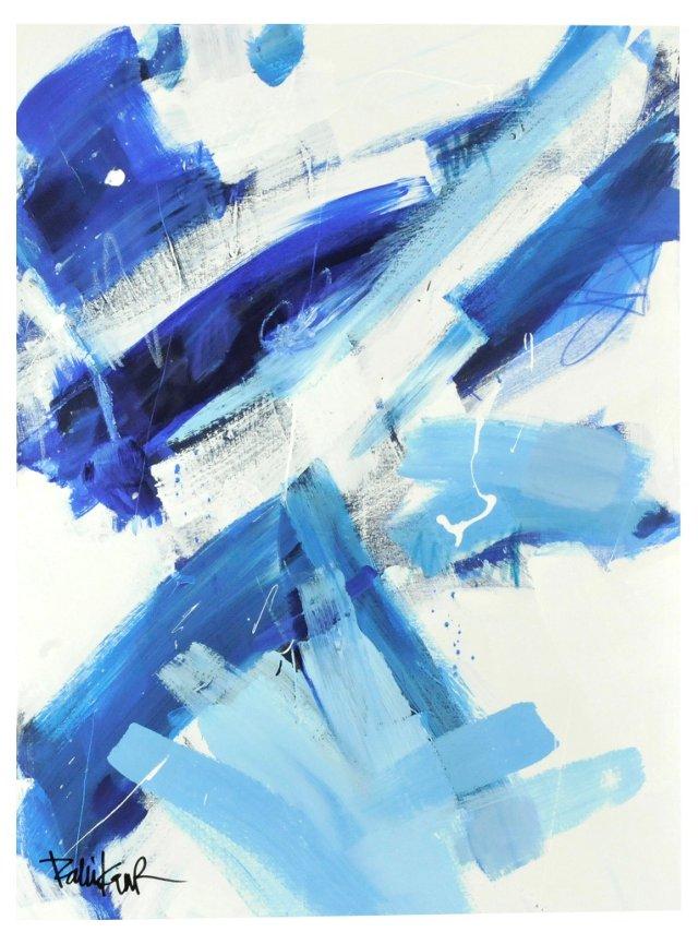 Blue White Diagonals by Robbie Kemper