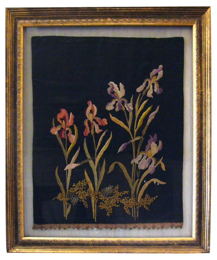 Embroidered Irises