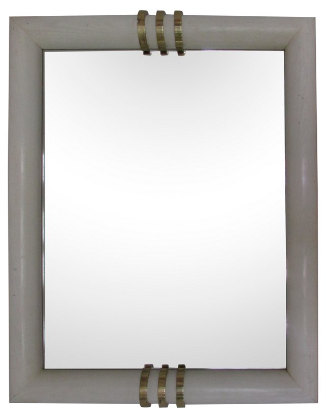 Henrendon Wood & Brass Mirror