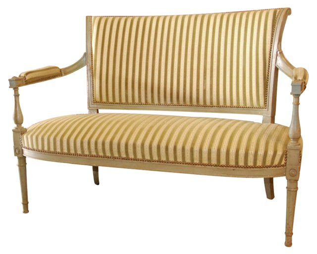 Directoire-Style  Painted Settee