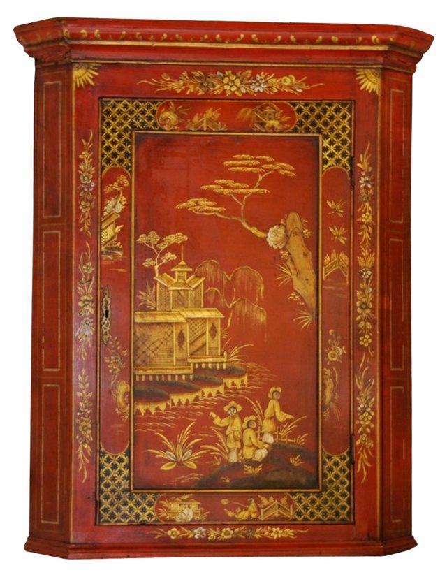 19th-C. Chinoiserie Corner Cabinet