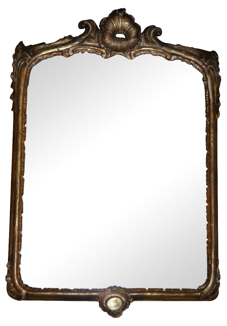 18th-C. Italian Gilt Mirror