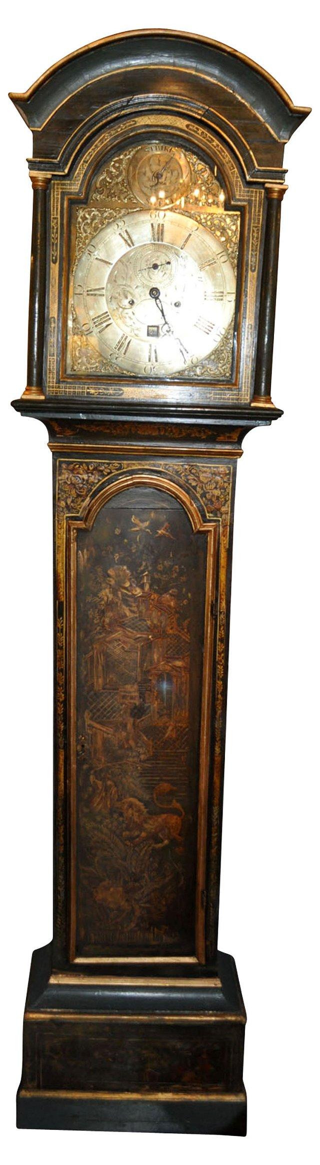 19th-C. Chinoiserie Tall Case Clock