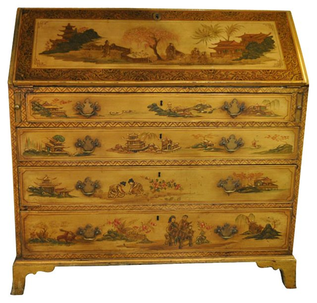 Chinoiserie-Style Fall Front Desk