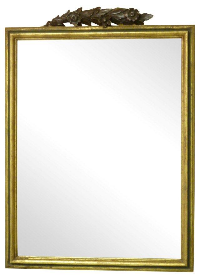 Italian Mirror w/ Carved Crest