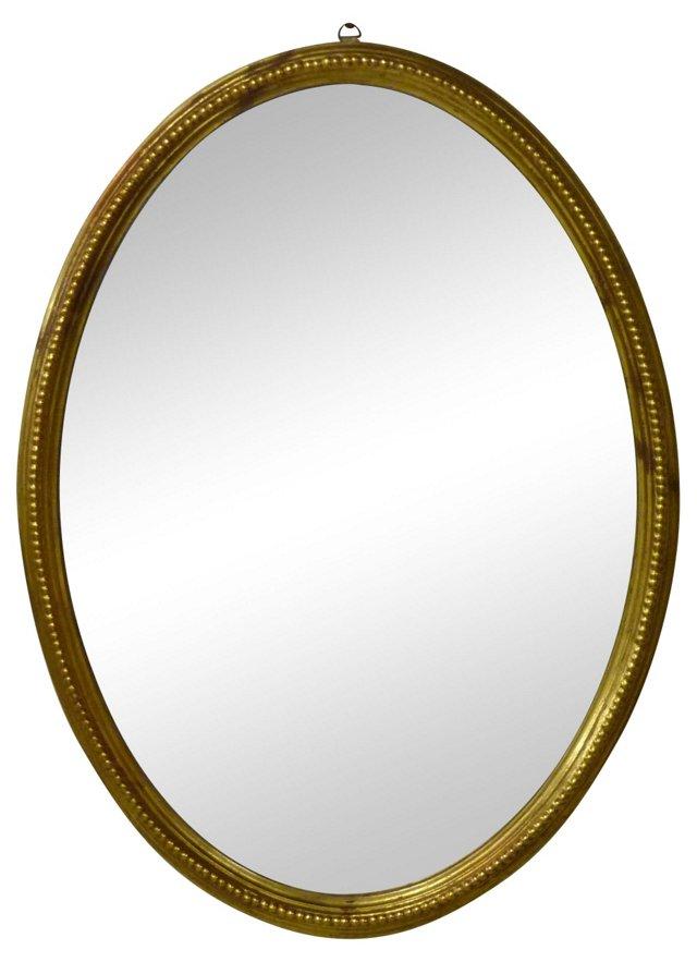 Gold Leaf Beaded Mirror