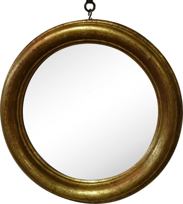 Round Giltwood Mirror