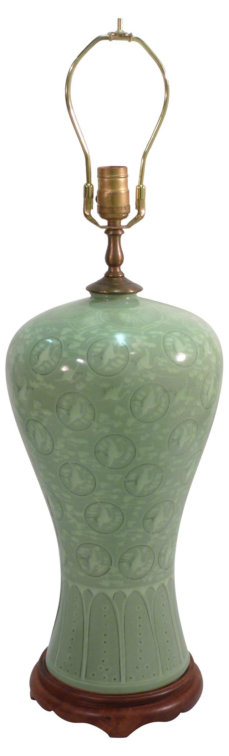 Korean Celadon Lamp