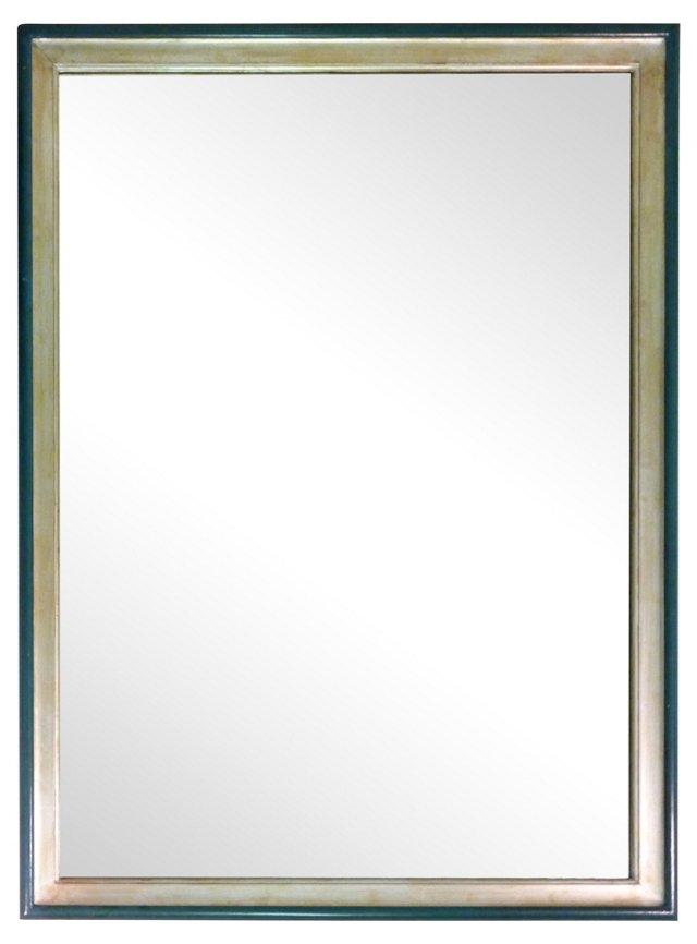 Silver Mirror w/ Turquoise Border
