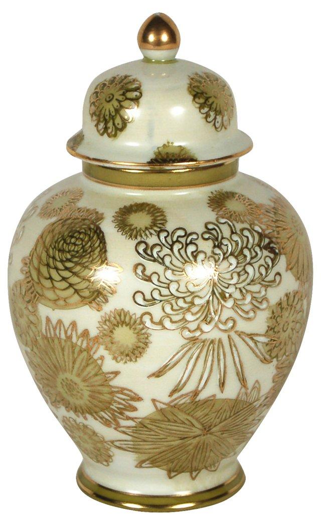 Chrysanthemum Ginger Jar