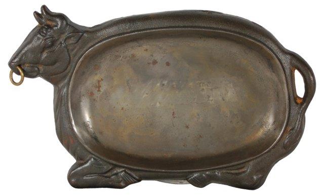Bull Serving Platter
