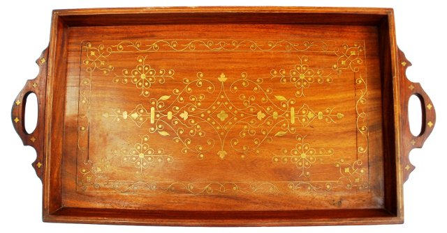 Brass & Copper Inlay Tray