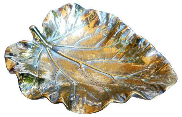 Brass Begonia Leaf Tray