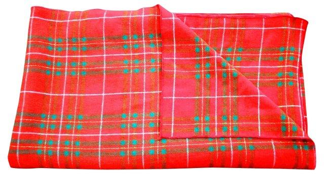 Metallic Weave Tartan Tablecloth