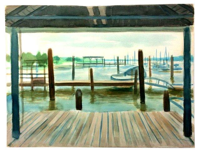 Nautical Watercolor Scene