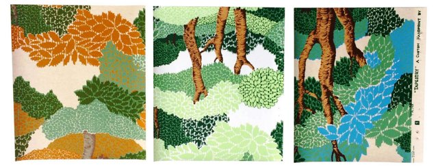 Forest Tree Wallpaper Samples, S/3
