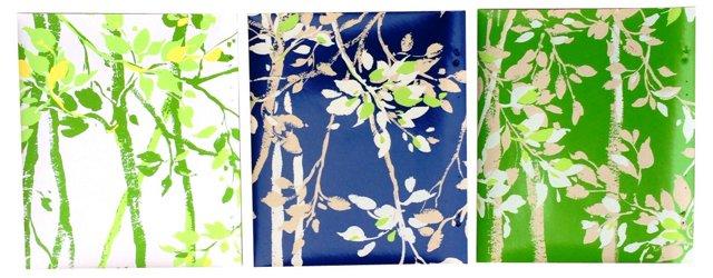 Birch Leaves Wallpaper Samples, S/3