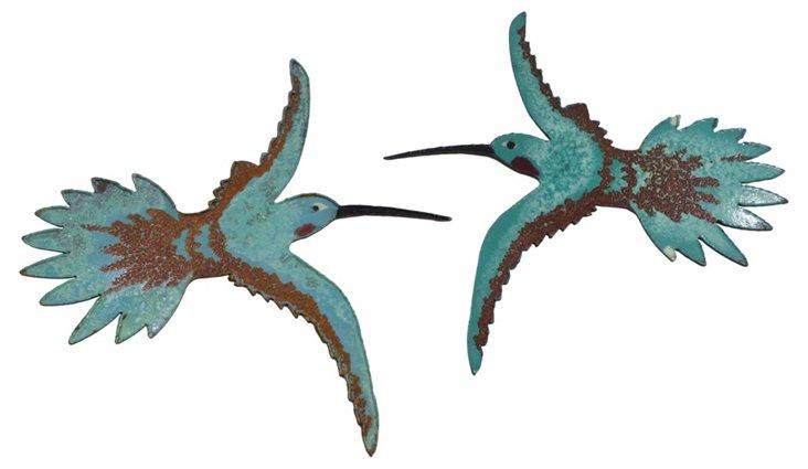 Hummingbirds, Pair