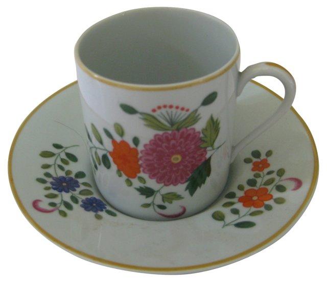 Limoges Celadon Porcelain Demitasse