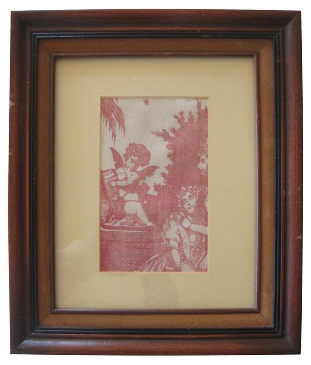 Framed Antique  Quilt Fragment