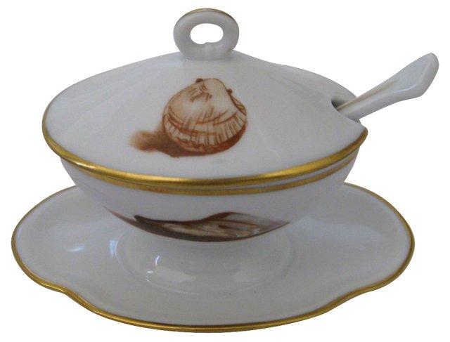 Ginori Italian Porcelain Mustard Pot