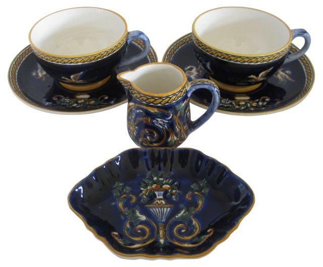 French Faience Coffee Set