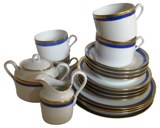 Ginori Porcelain Tea Set, Svc. for 4
