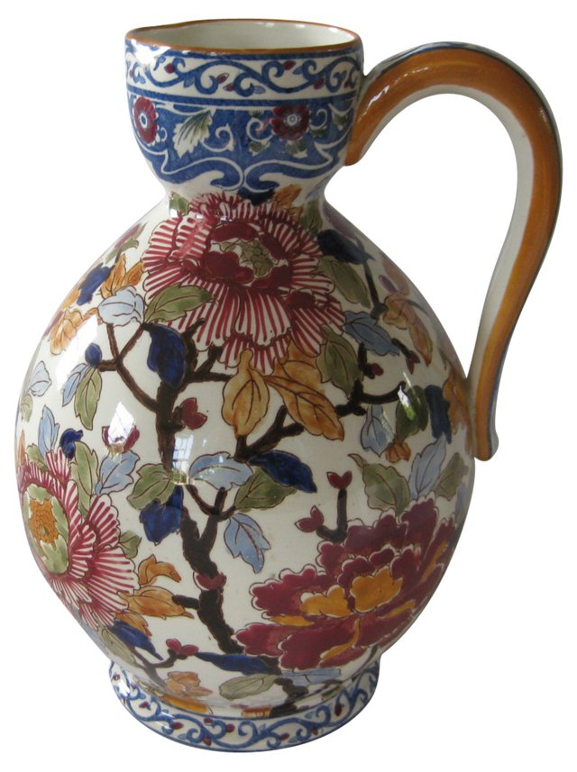 Early-20th-C. French Faience Pitcher