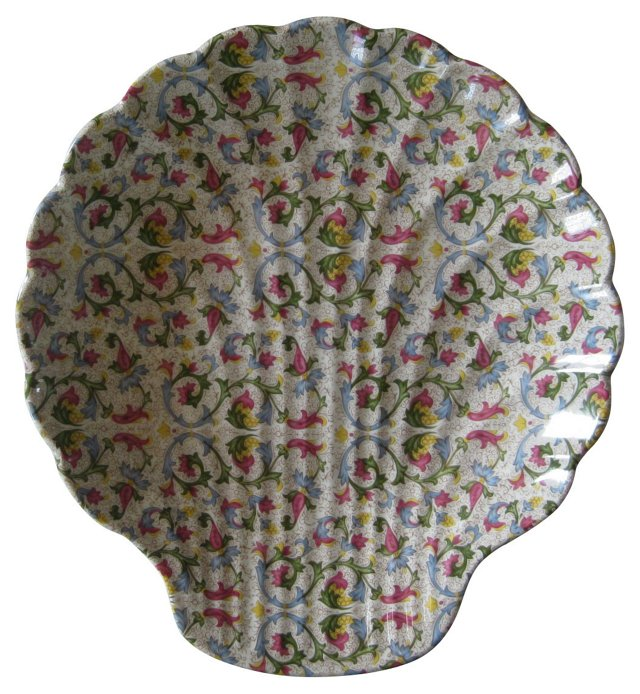 Limoges Chintz Shell Serving Bowl