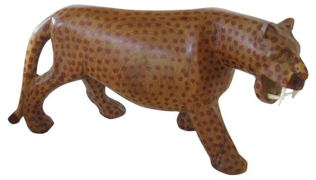 Spotted African Cat Figurine, 1963