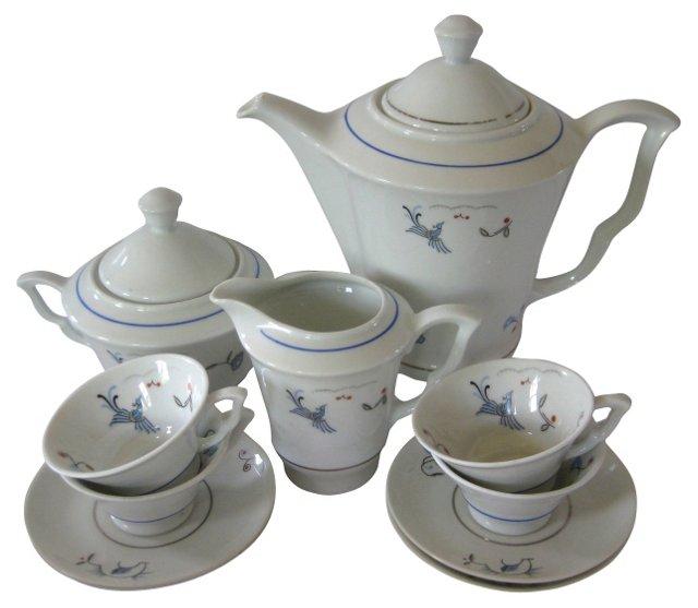 1930s Ginori  Coffee Set, Svc. for 4