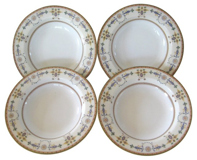 Early 1900s Ginori Porcelain Bowls, S/4