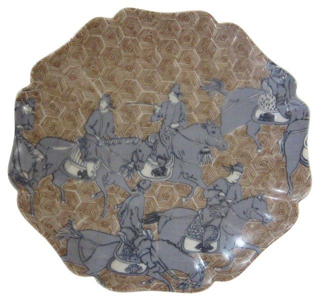 Japanese Porcelain Samurai Plate