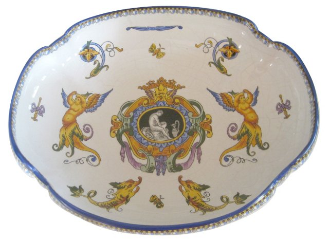 19th-C. French Faience Bowl