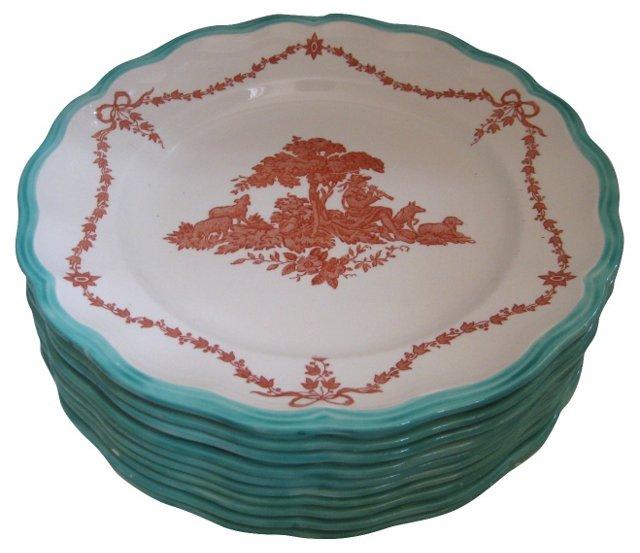 19th-C. Copeland Spode Plates, S/9