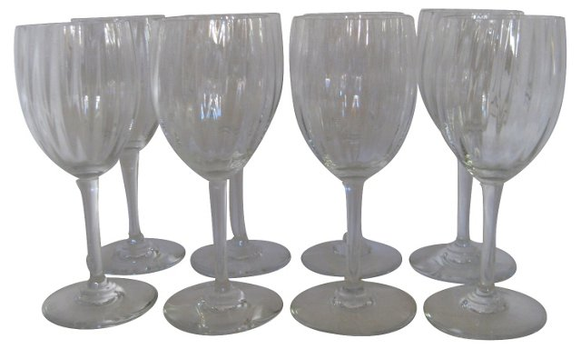 Baccarat Crystal Wine Glasses, S/8