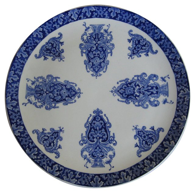 Blue & White French Faience Platter